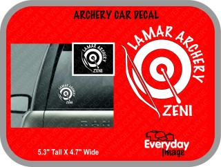 Archery Car Decal