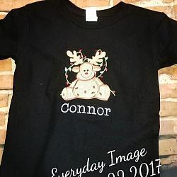 Custom Christmas Applique Shirt