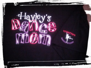 CUSTOM APPLIQUE DANCE MOM T-SHIRT