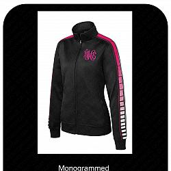 Ladies Custom Track Jacket with Sublimated Sleeves