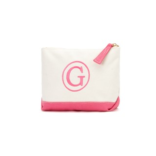 HOT PINK CANVAS COSMETIC BAG