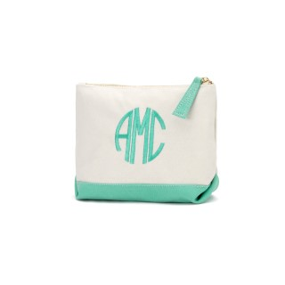 MINT CANVAS COSMETIC BAG