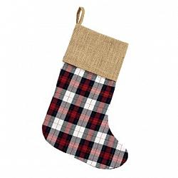 WINTER PLAID STOCKING