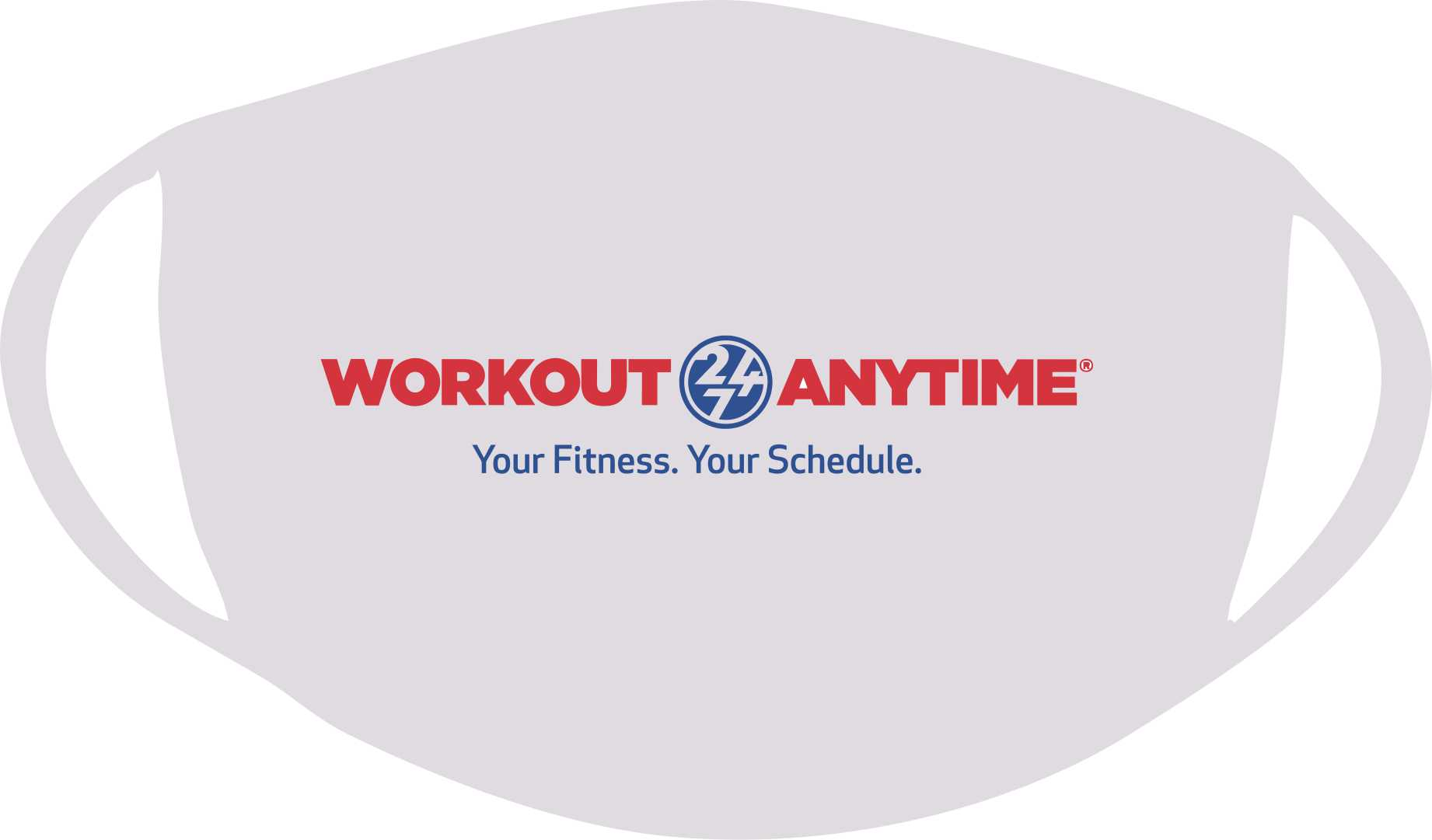 LONG LOGO WORKOUT ANYTIME 24/7 CUSTOM FACE COVER