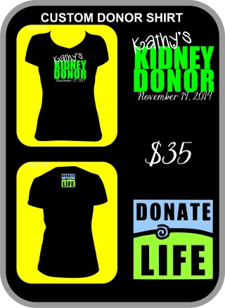 CUSTOM DONOR SHIRT