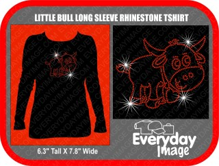 LITTLE HORN LONG SLEEVE RHINESTONE TSHIRT