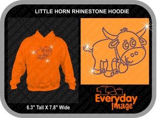 LITTLE HORN RHINESTONE HOODIE