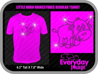 LITTLE HORN REGULAR RHINESTONE TSHIRT TSHIRT