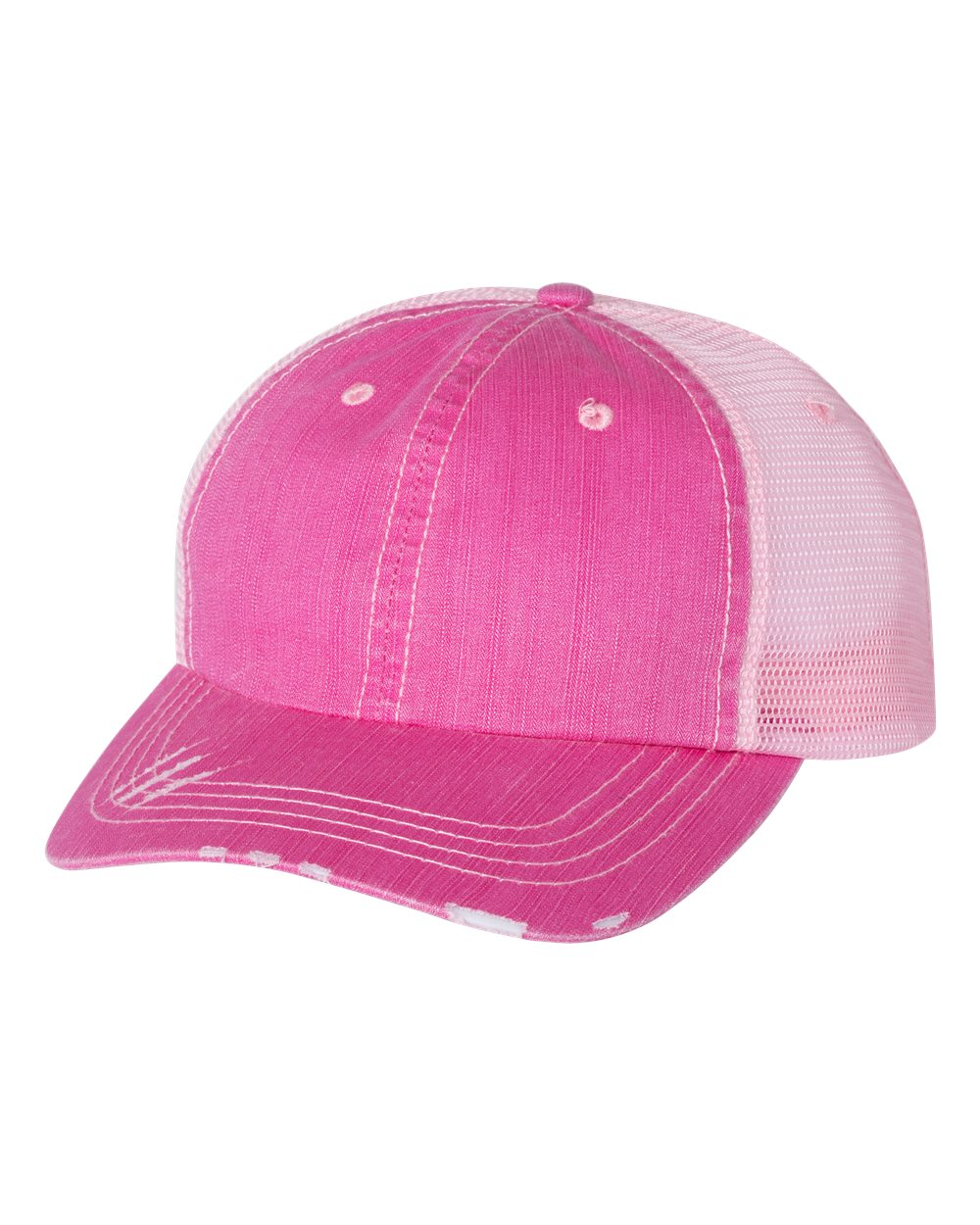 PINK TRUCKER CAP WITH FMWIB LOGO ON PATCH