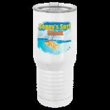 20 oz. Tall White Vacuum Insulated Tumbler Full color customization