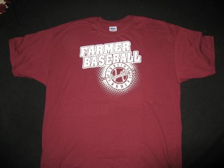 W6 LHS FARMERBASEBALL DISTRESSED WHITE LOGO