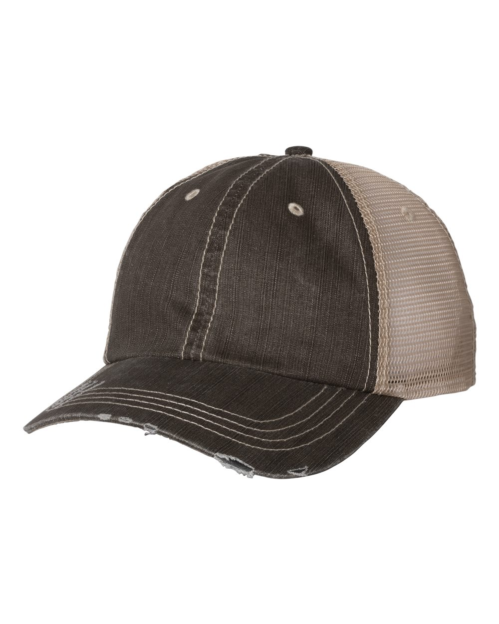 BROWN KHAKI WITH LEATHER PATCH CUSTOM CAP