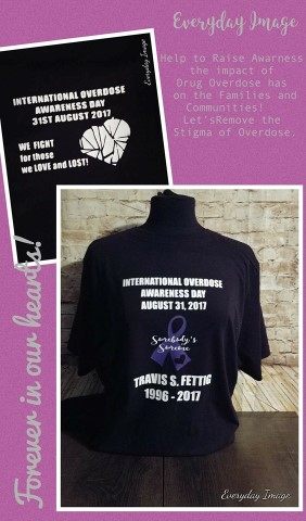 OVERDOSE AWARENESS PRINTED SHIRT