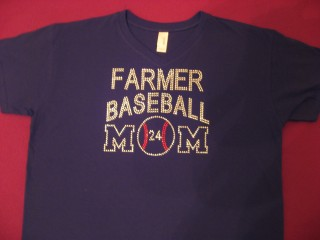 LHS FIGHTING FARMER CUSTOM BLING MOM