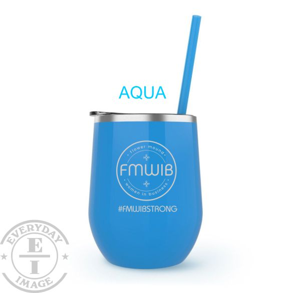 Custom Engraved Wine Tumbler Aqua