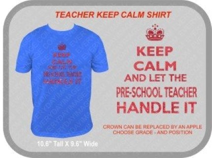 KEEP CALM LET TEACHER HANDLE IT