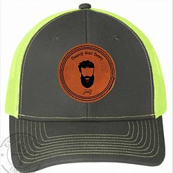 BEERS AND BREWS TRUCKER CAP W LEATHER PATCH