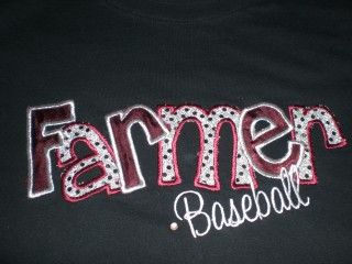 LHS FARMER BASEBALL APPLIQUE 1