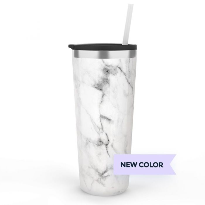 MARBLE 22 OZ TUMBLER WITH NAME