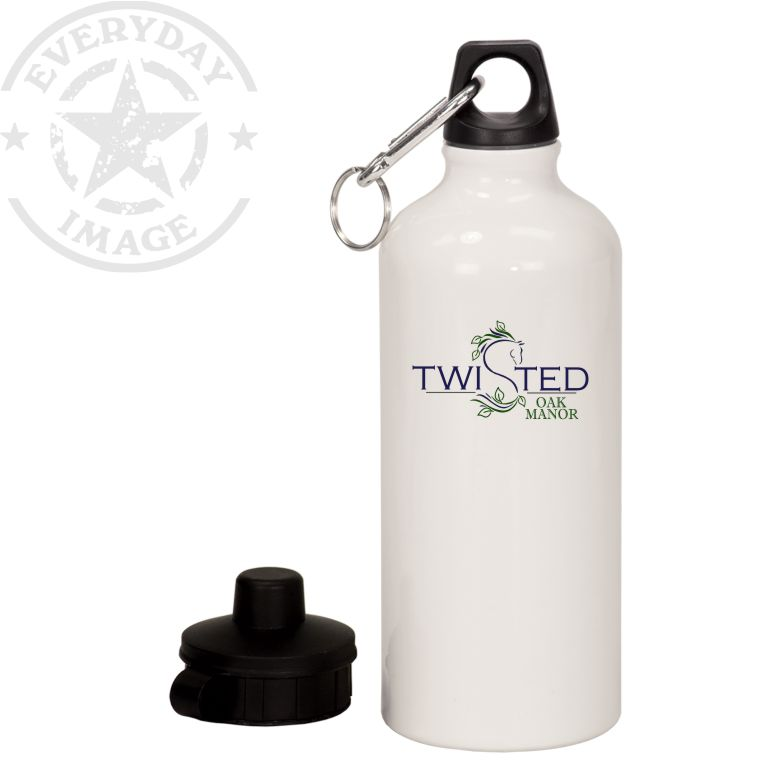 20 oz. White CUSTOM Aluminum Water Bottle