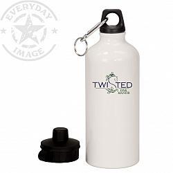 20 oz. White CUSTOM Aluminum Water Bottle