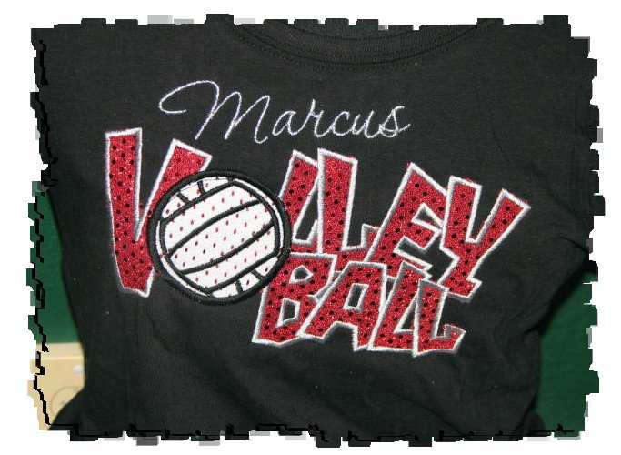 VOLLEYBALL APPLIQUE SHIRT
